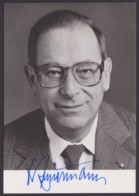 Dr. Friedrich Zimmermann, Autogrammkarte Mit Unterschrift - Hommes Politiques & Militaires