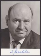 Ignaz Kiechle, Autogrammkarte Mit Unterschrift - Hommes Politiques & Militaires