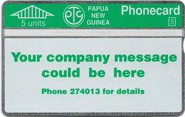 Papua New Guinea - Telikom - L&G - Your Company Message - 110F - 01.1992, 5U, 24.000ex, Mint - Papouasie-Nouvelle-Guinée