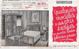 Catalogue De Meubles Galerie Barbès, 24 Pages, Années 30/40, Séjour, Chambre En Chêne Massif, Ronce De Noyer... - Pubblicitari