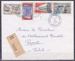 Polynesie Lettre #341 - 1970 Taiohae Nuku-Hiva En Papeete, Lettre Rec. - Lettres & Documents