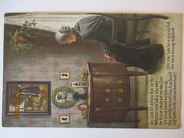 Trauernde Mutter Vor Bild Kaiser Wilhelm, Mutterherz (37929) - Guerre 1914-18