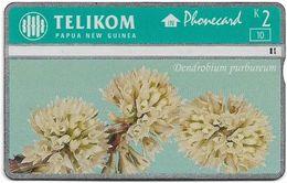 Papua New Guinea - Telikom - L&G - Dendrobium Purbureum - 512L - 01.1996, 2K, 10.000ex, Used - Papouasie-Nouvelle-Guinée