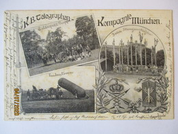 Bayern, Regimentskarte KB Telegraphen Komp. München 1906 (52847) - Non Classés