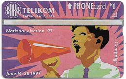 Papua New Guinea - Telikom - L&G - Election Campaign - 705A - 04.1997, 1K, 40.000ex, Mint - Papouasie-Nouvelle-Guinée