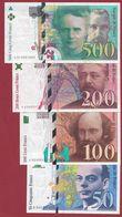 France 4 Billets ---dans L 'état ---voir Scan ---DERNIERE  GAMME COMPLETE  AVANT  L' EURO --lot N °2 - Sin Clasificación