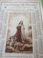 Grand Calendrier Uniface/Ligue Patriotique Des Françaises/Action Sociale Catholique/Thérèse Enfant-Jésus/1924   CAL470 - Big : 1921-40