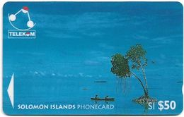 Solomon - Solomon Tel. - GPT - SOL-16 - 03SIE - Canoe-Paddling, Sikaiana, 50$, Used - Salomon