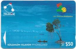 Solomon - Solomon Tel. - GPT - SOL-12 - 03SIE - Canoe-Paddling, Sikaiana, 50$, Used - Solomoneilanden