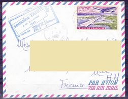 """Polynesie Lettre #631 - 1962 Papeete En France """"Semaine Tahiti - La Route De TAI"""" - Polynésie Française"""