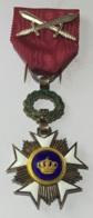 Militaria. Médaille Décoration Belge. Chevalier à L'Ordre De Léopold I à Titre Militaire. - Belgique