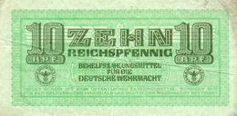 GERMANY-. 10 REICHSFENNIG 1942 **CIRC.   P-M34 -- Military Payment Certificates - Otros