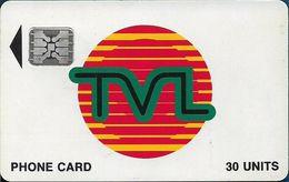 Vanuatu - TVL Logo, SC5 Afnor, Cn. 40733 Embossed, 30U, 06.1992, Used - Vanuatu