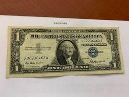 United States Washington Circulated Banknote Blue 1957  #60 - Silver Certificates – Títulos Plata (1928-1957)