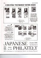 JAPANESE PHILATELY October 1995 VOL 50 N°5 - Magazines