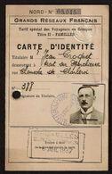 1937 - Bureau Commun Des Chemins De Fer Français Bruxelles - Tarif Spécial - Jeumont - La Bourboule - 2 Scans - Titres De Transport