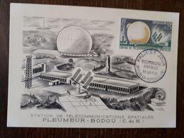 L27/1821 PLEUMEUR-BODOU - Premier Jour - Télécommunications Spatiales - Pleumeur-Bodou