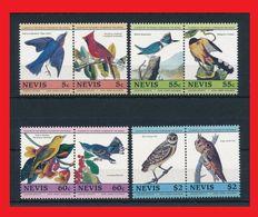077.NEVIS SET/8 STAMP BIRDS, OWLS . MNH - St.Kitts And Nevis ( 1983-...)