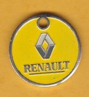 Jeton De Caddie En Métal - Renault Annecy (74) - Automobiles - Jetons De Caddies