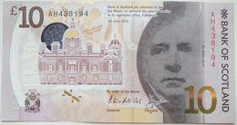 UK Scotland 10 Pounds 2016 UNC  P- 131(1) Polymer < Bank Of Scotland > - Schotland