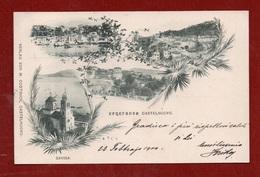 MONTENEGRO - GRUSS AUS CASTELNUOVO + SAVINA - Annullo CASTELNUOVO PRESSO CATTARO DEL 22/2/1900 PER BOLOGNA - Montenegro