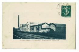 Fourchambault - Usine Guilliet Egré & Cie (voies Férrées, Cheminée) Circulé 1911 - Autres Communes