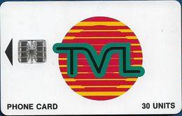 Vanuatu - TVL Logo, SC7 ISO, Cn. 0386541/C8A028029 At Right, 30U, 10.1998, Used - Vanuatu