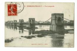 Fourchambault - Pont Suspendu - Circulé 1911 - Autres Communes