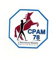 Autocollant CPAM 78 - Format : 8x8cm - Adesivi