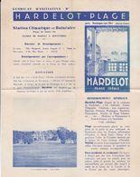 HARDELOT PLAGE, Dépliant Du Syndicat D'Initiative, Début Du XXème, J.Guermonprez Publicité - Pubblicitari