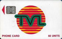 Vanuatu - TVL Logo, SC5 Afnor, Cn. 40734 Embossed, 60U, 06.1992, Used - Vanuatu