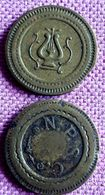2 JETONS A CONSOMER : A; 20 C CFG/N.P.S.C  B: 10 Centimes A Consommer - France