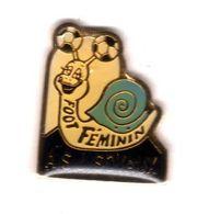 Pin's Foot Ball Féminin Escargot  ASJ Soyaux  Epoxy - Fussball