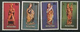 """Aitutaki ** N° 270 à 273 - Noël. Sculptures Anciennes """"Vierge Et L'Enfant"""" - Aitutaki"""