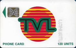 Vanuatu - TVL Logo, SC5 Afnor, Cn. 40727 Embossed, 120U, 06.1992, Used - Vanuatu