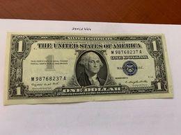 United States Washington Circulated Banknote Blue 1957  A #61 - Silver Certificates – Títulos Plata (1928-1957)