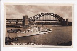 """CP BATEAU DE GUERRE """"Amiral Charner"""" Passing The Harbor Bridge SYDNEY - Guerre"""