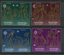 Aïtutaki ** N° 180 à 187 Se Tenant Par Paire - Noël - Aitutaki