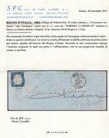 1863: ND 15c Rara Tinta Azzurroverdastro (11ha) Su Lettera : Cert. Cardillo (€ 4.500) - Marcophilia