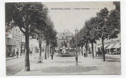 MONTBELIARD EN 1918 - N° 785 - PLACE DORIAN AVEC PERSONNAGES - CPA VOYAGEE - Montbéliard