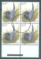 BELGIUM  - 2002 - MNH/*** - BUZIN SPECIMEN PERSSTEMPEL TIMBRES POUR LA PRESSE COB 3136 -   Lot  21748 Bloc De 4 - 1985-.. Pájaros (Buzin)