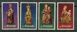 """Aïtutaki ** N° 337 à 340 - Noël Et Naissance Du Prince William- Sculpture """"Vierge Et L'Enfant"""" - Aitutaki"""