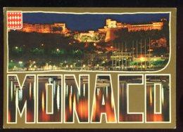 CPM Non écrite Principauté De MONACO Un Coin Du Port Et Le Palais Princier Illuminé - Monte-Carlo