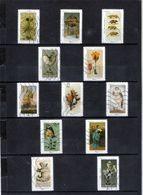 12 Timbres  Adhésifs (lettre Verte ..)   Oblitérés(2020) ( CABINET DE CURIOSITES) - Adhesive Stamps