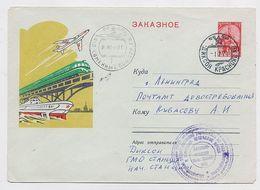 NORTH POLE Kamennyi Station Base Polar ARCTIC Mail Cover USSR RUSSIA Plane Aviation Train Airport - Stations Scientifiques & Stations Dérivantes Arctiques