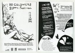 Flyer 20ème Festival BD De Colomiers (Haute-Garonne) Illustration De Edmond Baudoin. Voir Recto Et Verso Sur L'image - Programs
