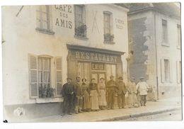 BOISSY MAUGIS (61) Carte Photo Devanture Café Des Amis Neveu Propriétaire Animation - Autres Communes