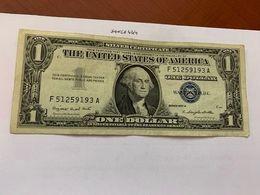 United States Washington Circulated Banknote Blue 1957  A #62 - Silver Certificates – Títulos Plata (1928-1957)