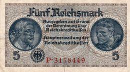 GERMANY-. 5 REICHSMARK 1940 **CIRC.   P-R138a  XF - [ 4] 1933-1945: Derde Rijk