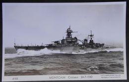 B10 Bateau Croiseur Montcalm  Carte Photo Marius Bar - Guerre